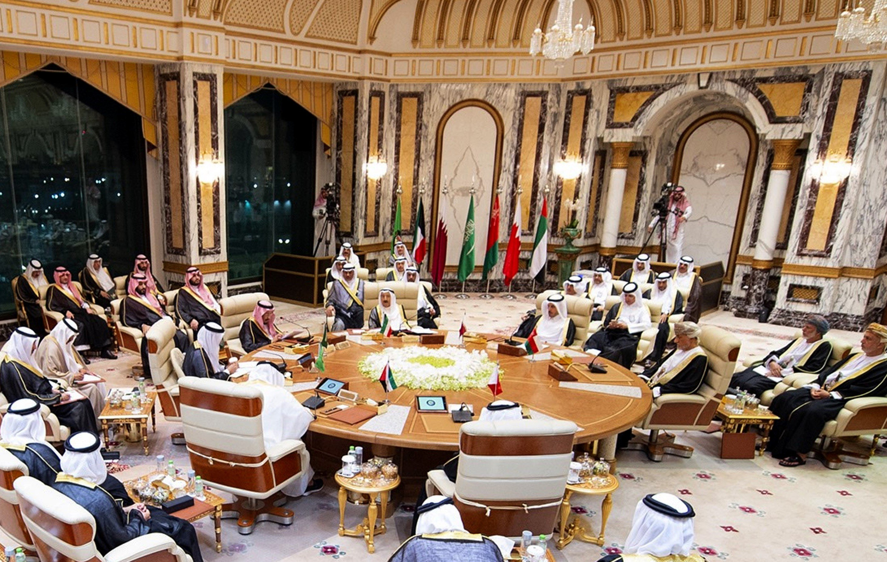 A general view of the Gulf Cooperation Council (GCC) held at al-Safa Royal Palace in the Saudi holy city of Mecca on on 31 May (AFP)