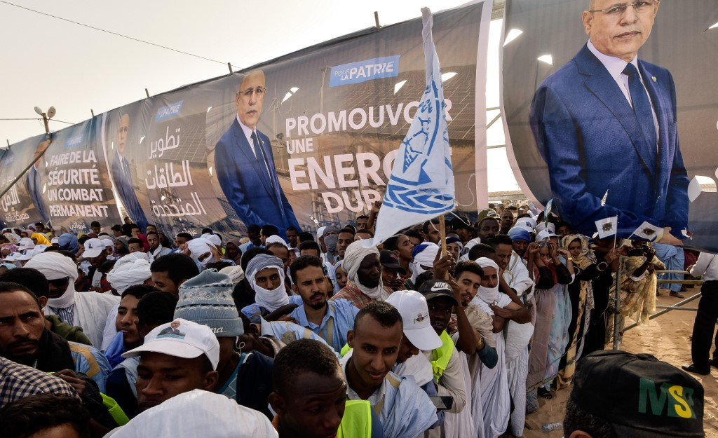 Former army general Mohammed Ould Ghazoani hopes to be Mauritania's next president (AFP)