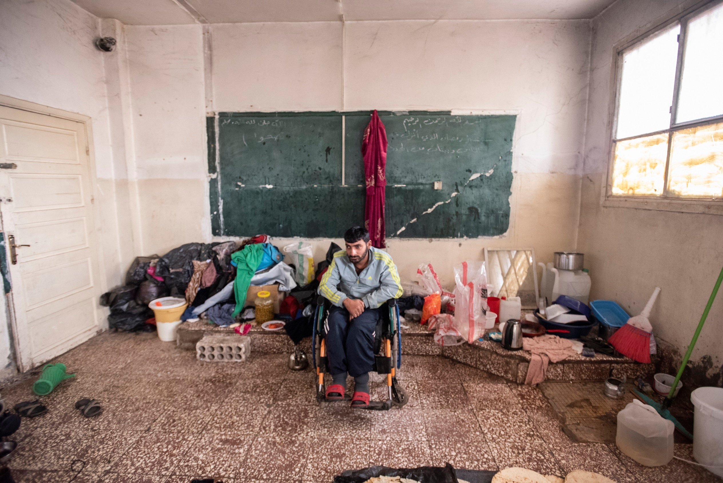 Displaced people in northeast Syria