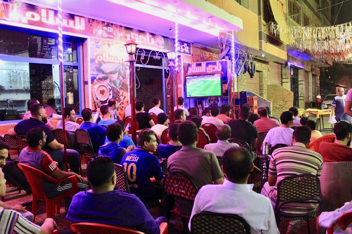 In Cairo on Saturday night, all eyes were on the Champions League final (MEE)