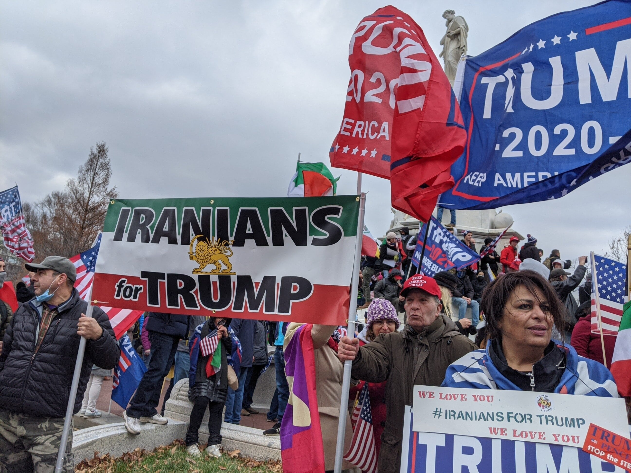Iranians for Trump banner