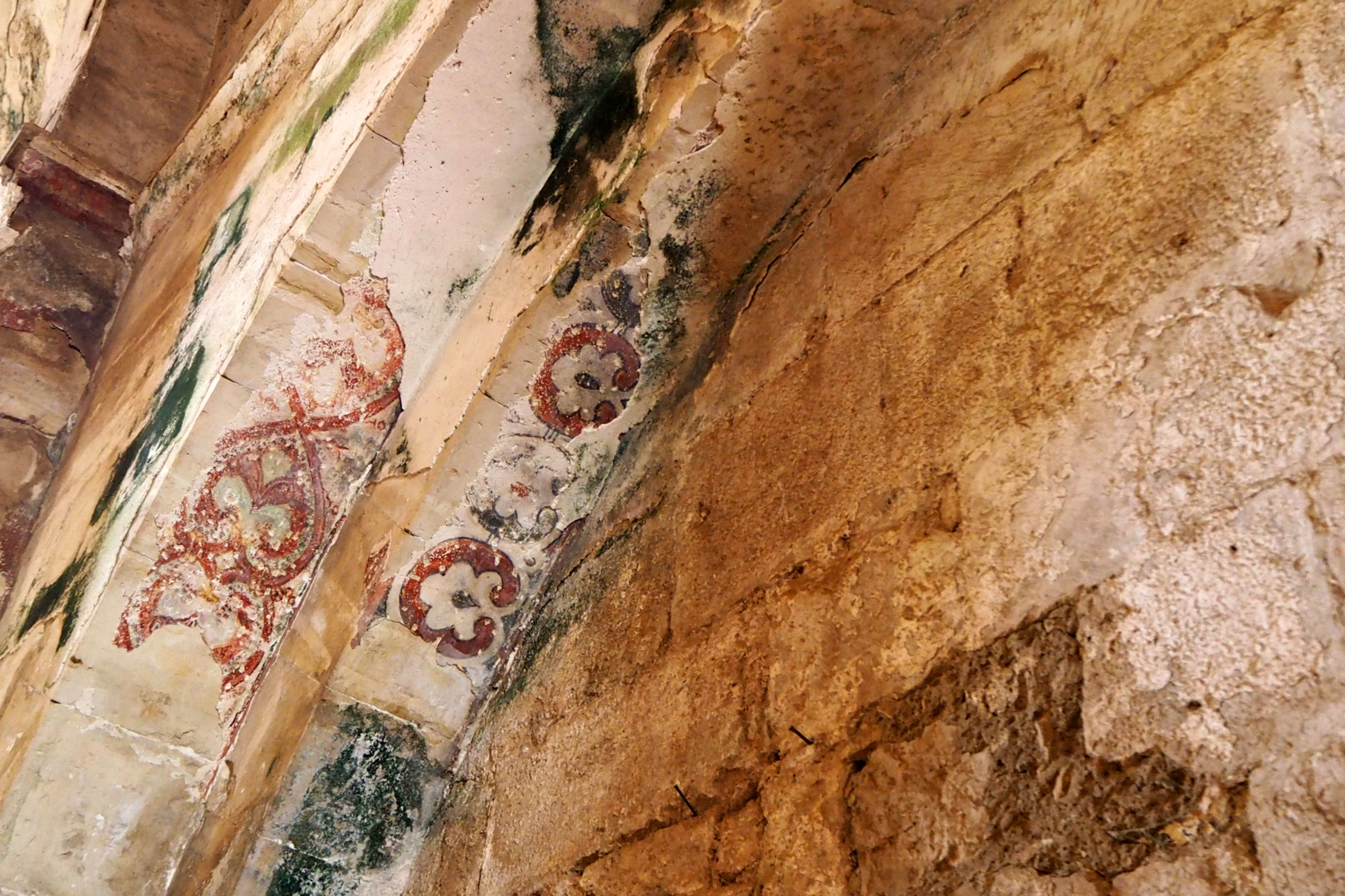 The frescoes in the chapel are some of the only surviving Crusader art in the world (Tom Westcott/MEE)