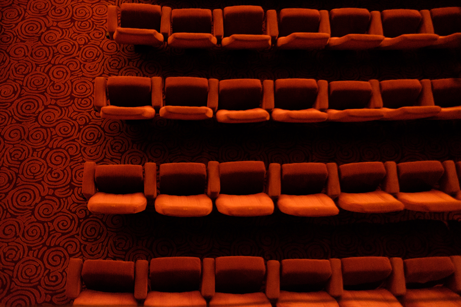 Seating at The Theater of Casino du Liban. For decades it hosted national and international artists, but is currently closed (MEE/Rita Kabalan)