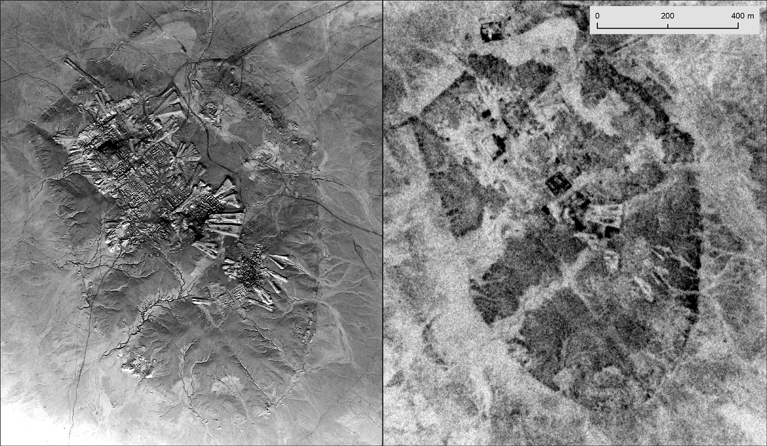 Ur Iraq U2 1959 left CORONA satellite 1969 right