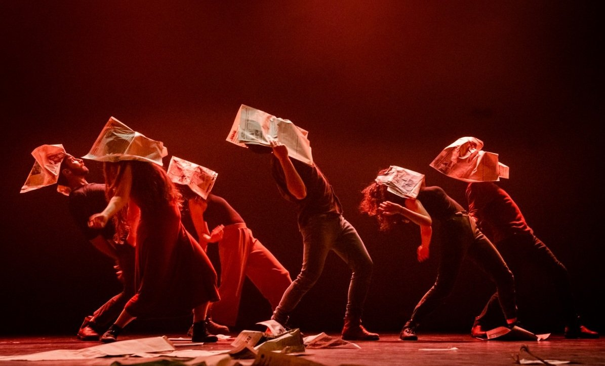 El-Funoon and Hawiyya Dance company perform their current collaboration, Curfew (LAAF)