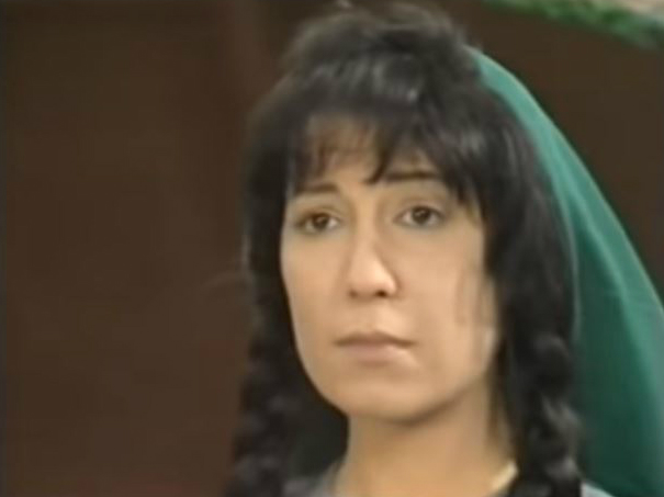 Khansa poet as played by Syrian actress Muna Wassef in the 1977 TV series (screengrab)