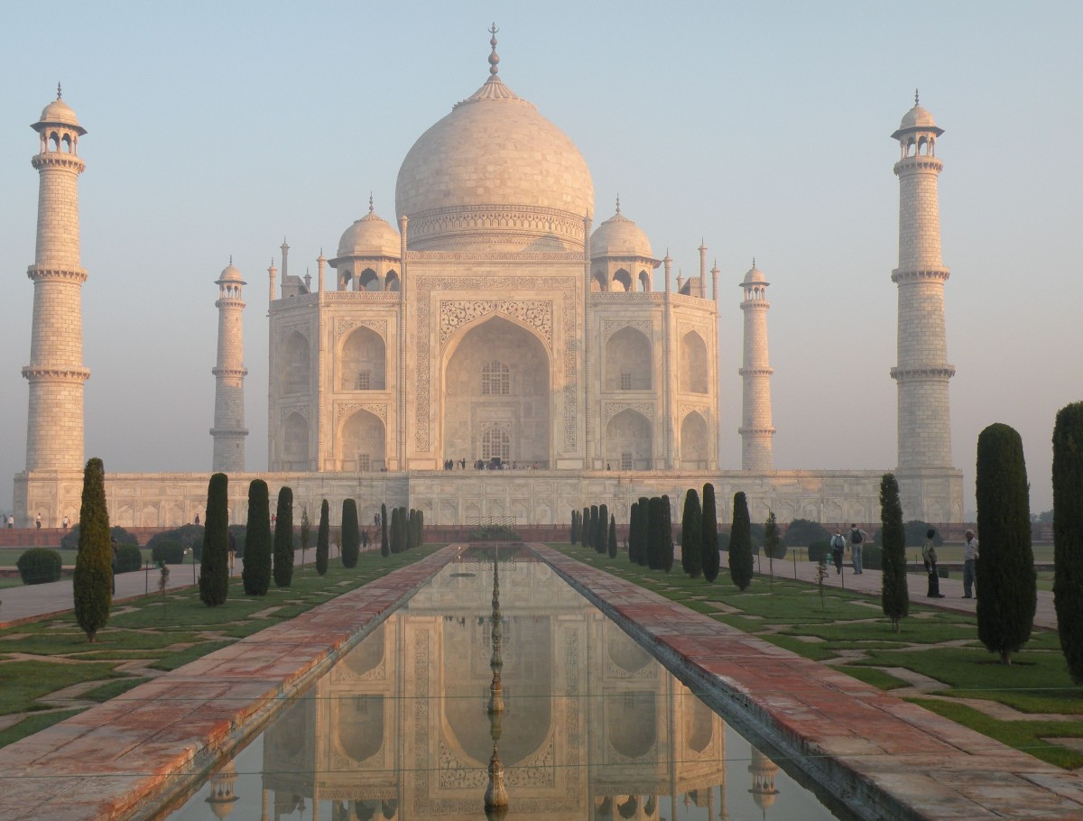The Taj Mahal garden is inspired by Islam's four gardens of Paradise as described in the Quran (Emma Clark)