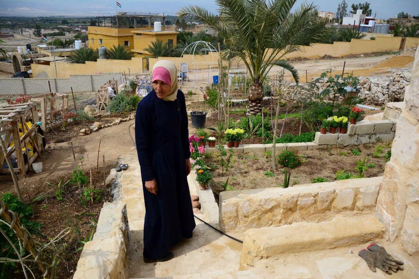 """Most of what I eat comes from my garden,"" says Abla Abu ElHajj (MEE/Marta Vidal)"