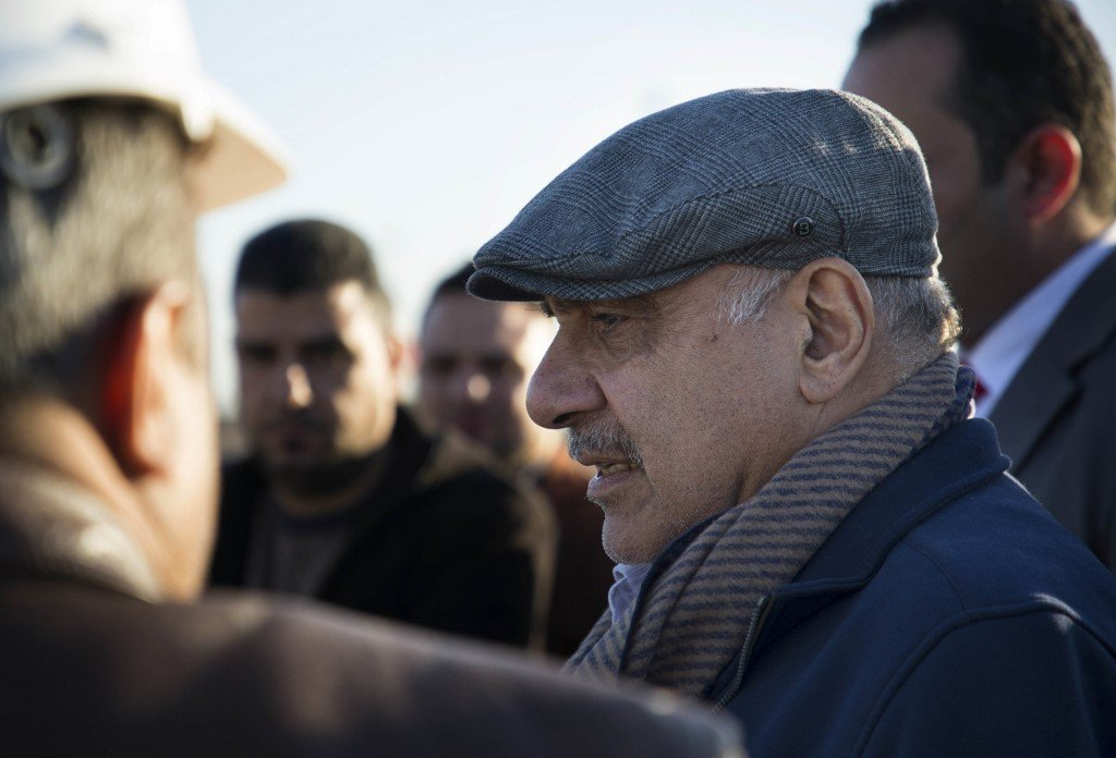 Iraqi Prime Minister Adil Abdul-Mahdi is pictured in Basra on 20 January (AFP)