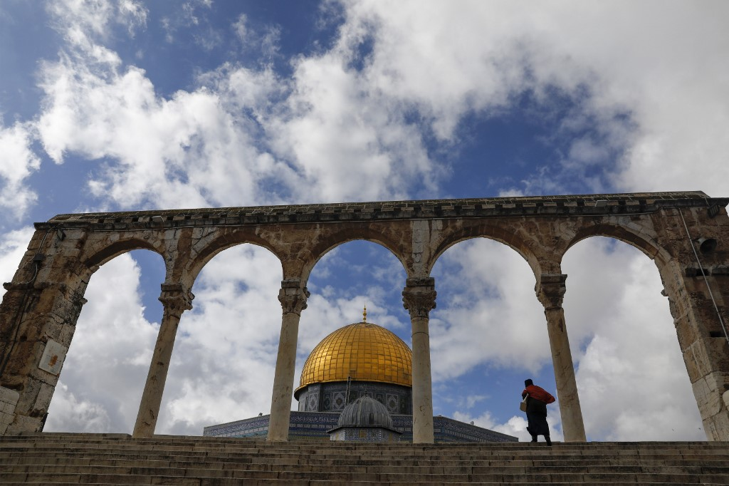 The Dome of the Rock in Jerusalem's al-Aqsa Mosque compound is pictured on 31 January (AFP)