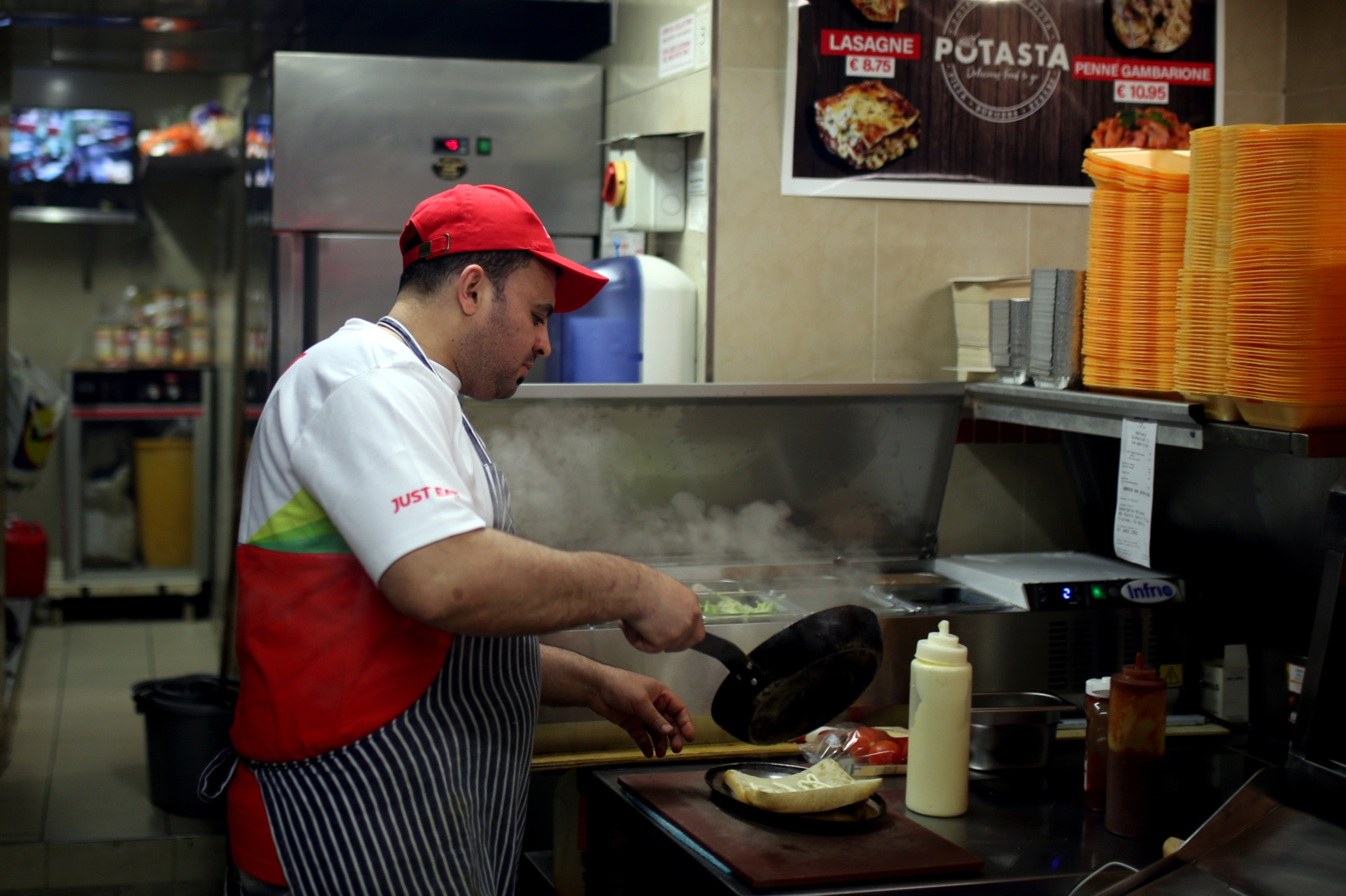 Alaa Bahlouan, who owns a restaurant in Tralee, says he has been trying to obtain legal residency in Ireland for five years (MEE/Mostafa Darwish)