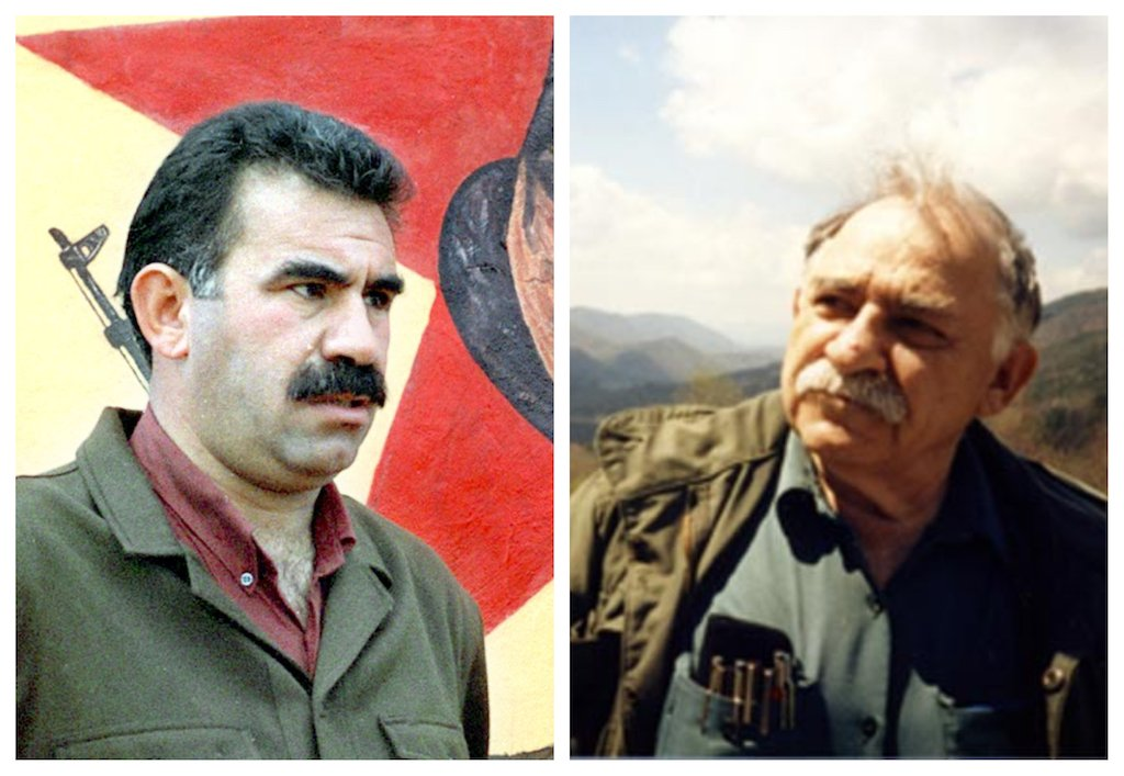 Abdullah Ocalan and Murray Bookchin (AFP/Wikimedia)