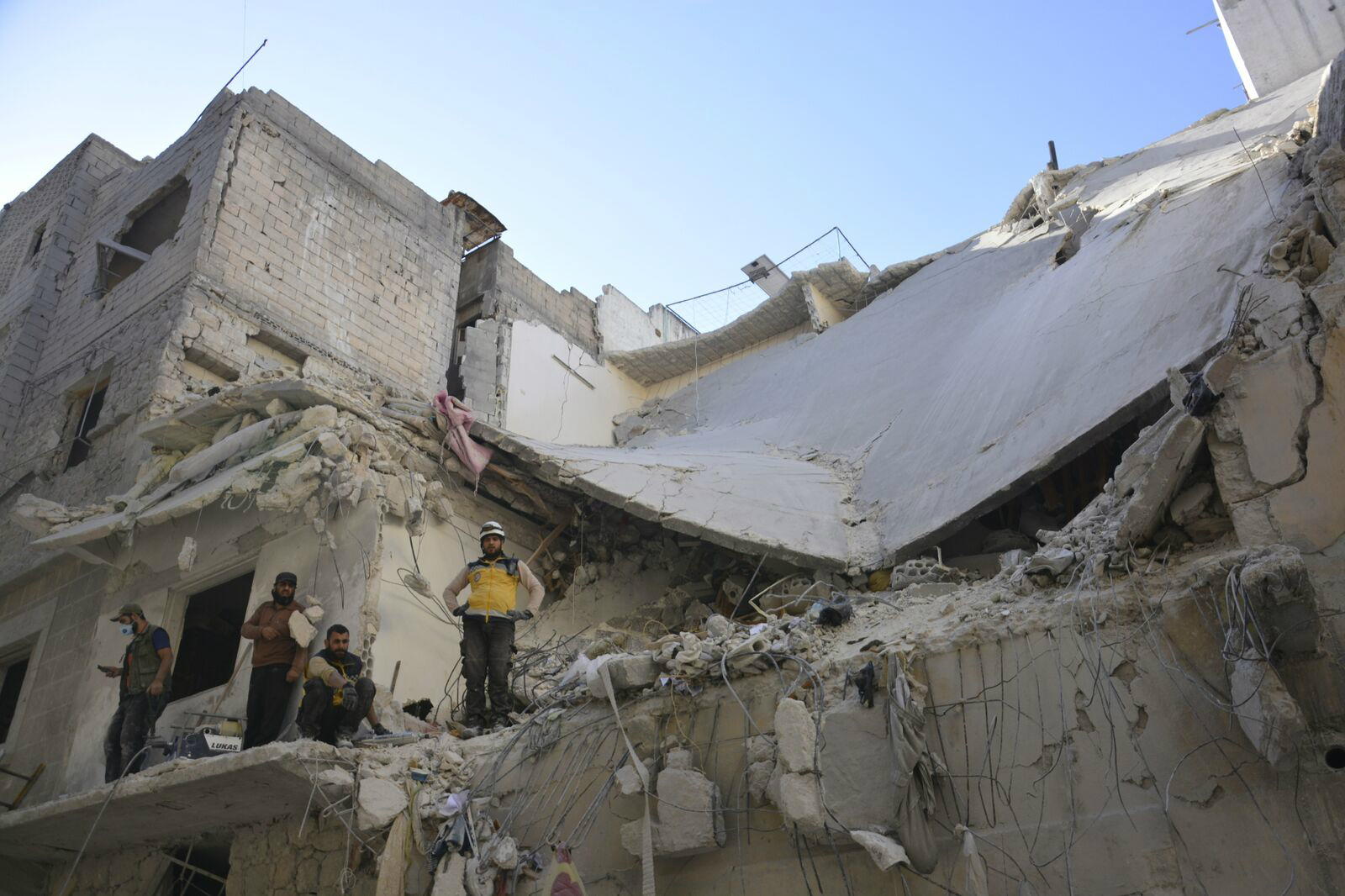 The rubble of a bombed-out building in Idlib province (MEE/Harun al-Aswad)