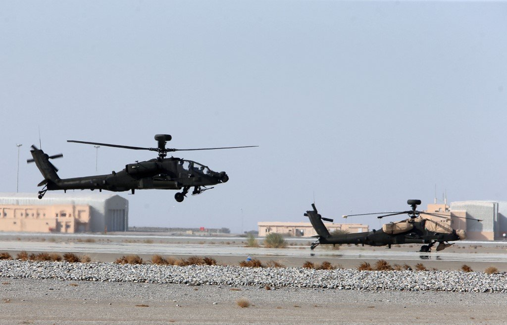 Joint British-Omani military exercises take place west of Muscat on 26 October (AFP)