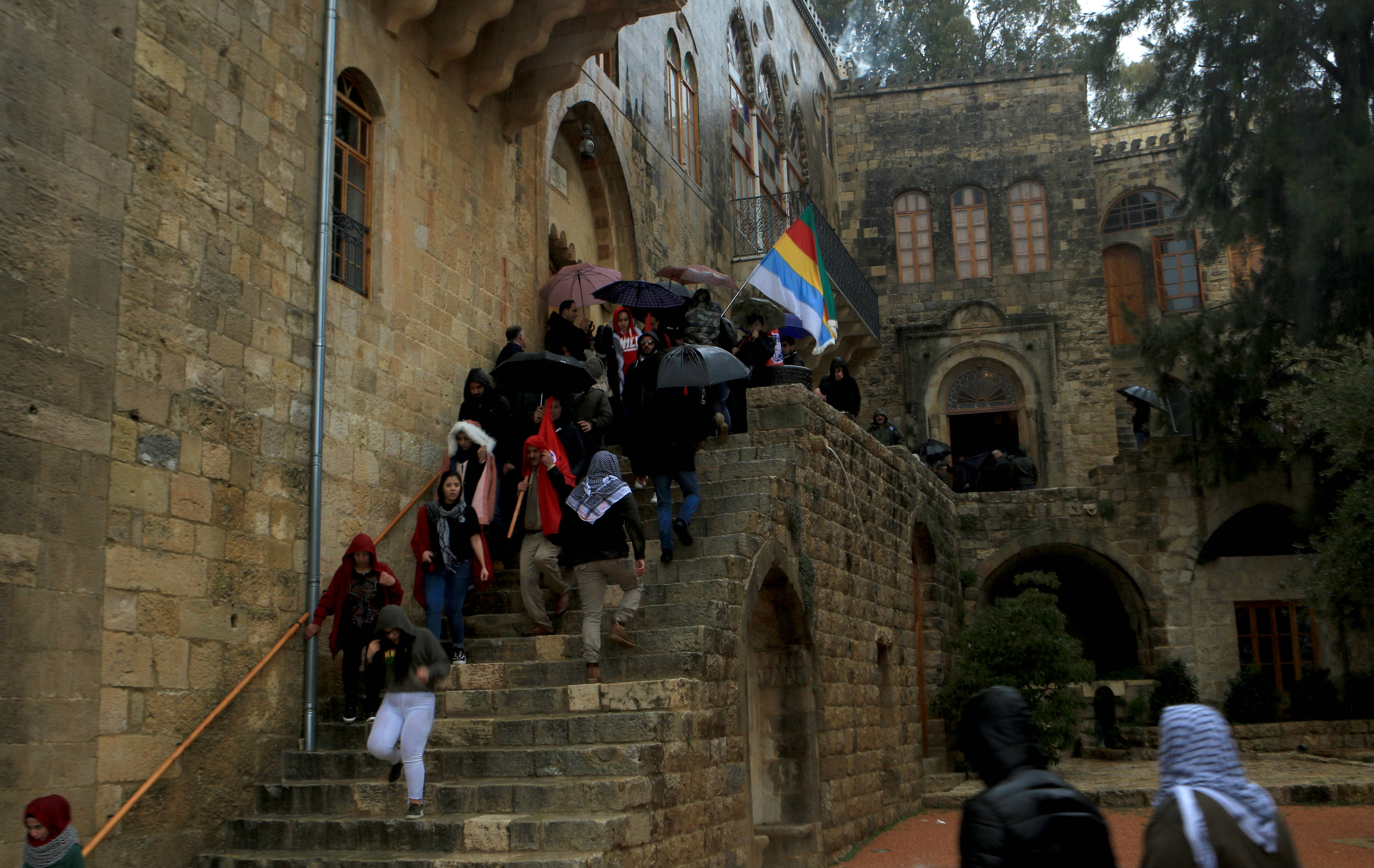 Druze commemorate the death of Kamal Jumblatt at the late leader's ancestral home in Mukhtara (MEE/Michal Kranz)