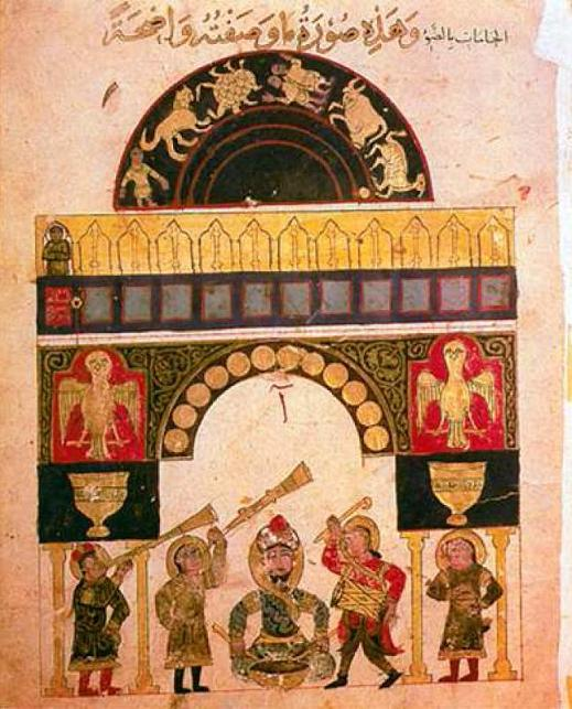 An illustration of a clock from al-Jaziri's writings An illustration of a clock from al-Jaziri's writings (MEE/Rabia Iclal Turan)