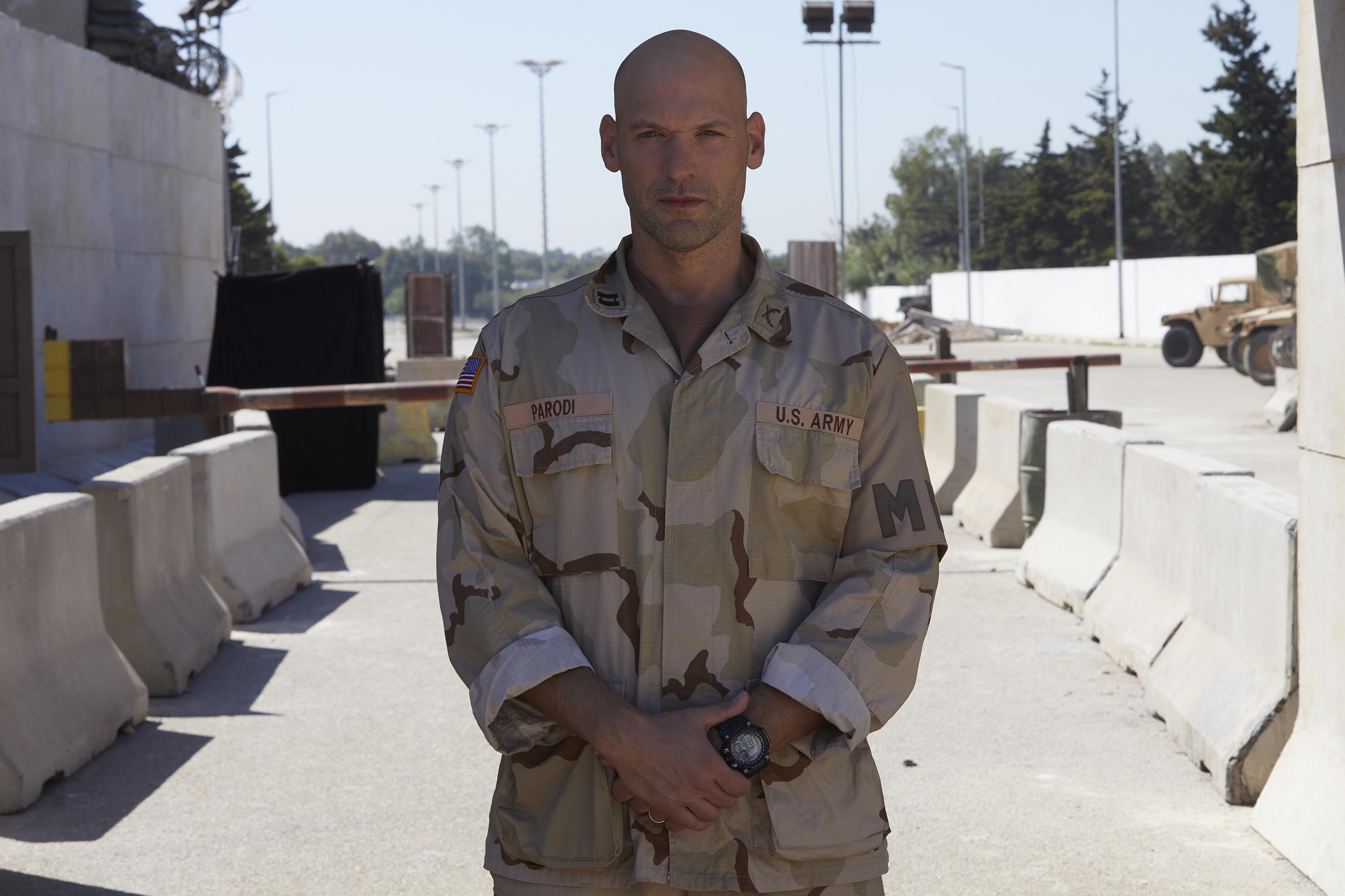 Corey Stoll plays Captain Parodi in Baghdad Central (Channel 4)
