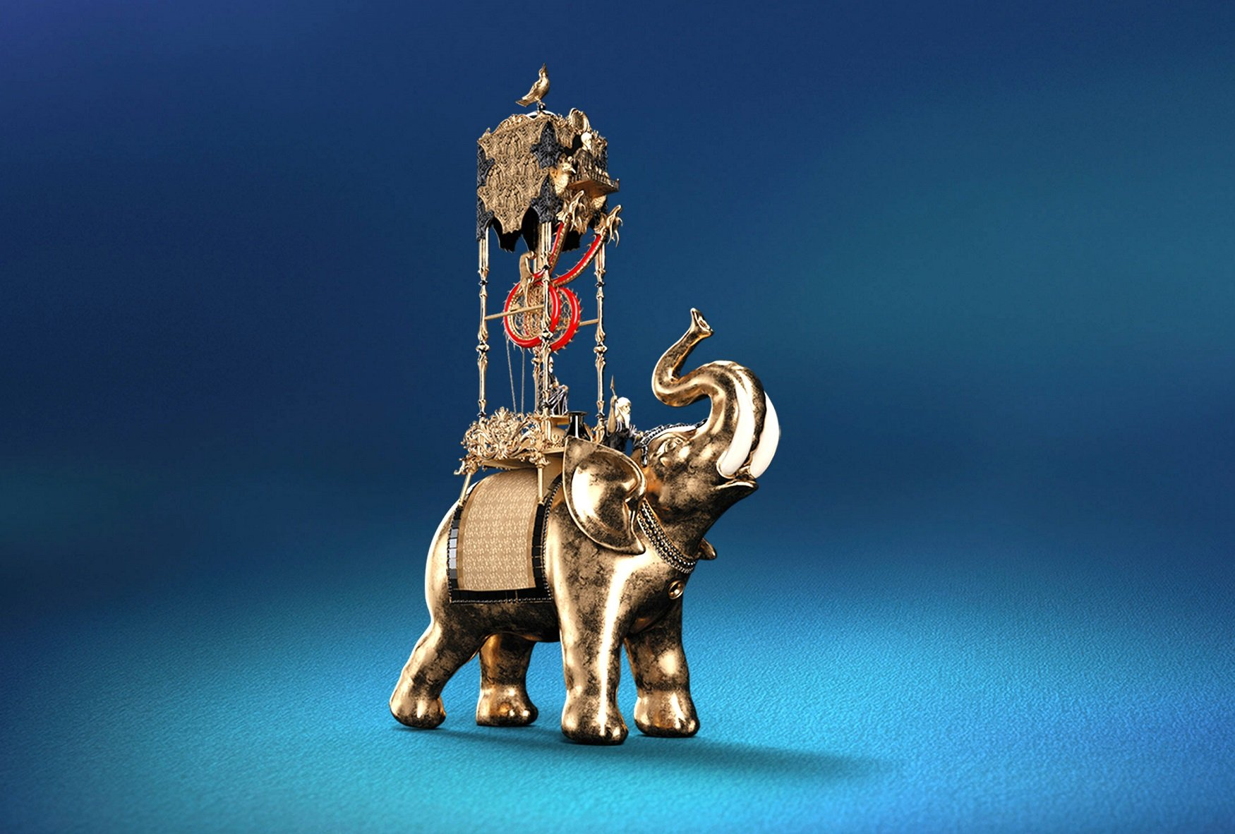 This elephant clock is al-Jazari's most famous and complex work: it told the time every 30 minutes