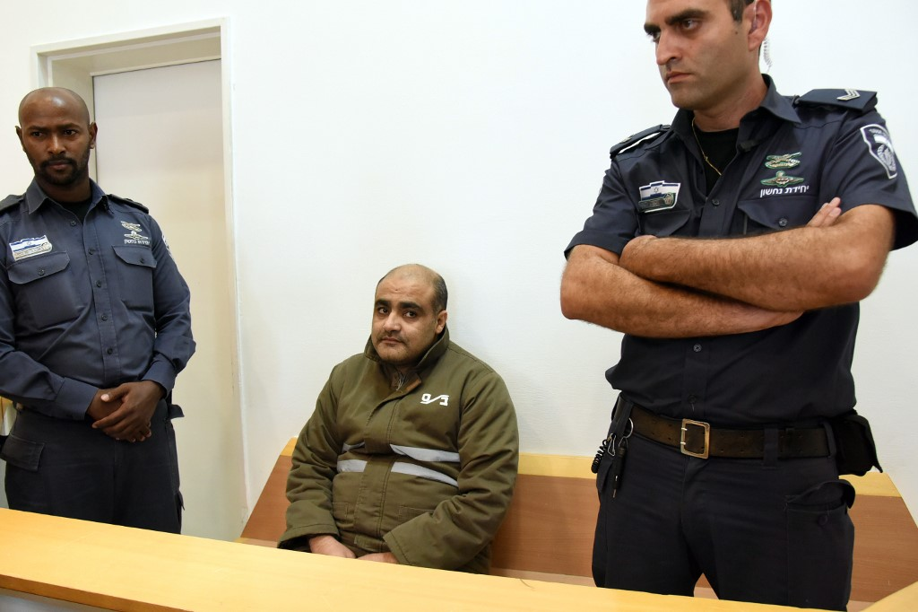 Halabi appears in an Israeli court in Beersheva in August 2016 (AFP)