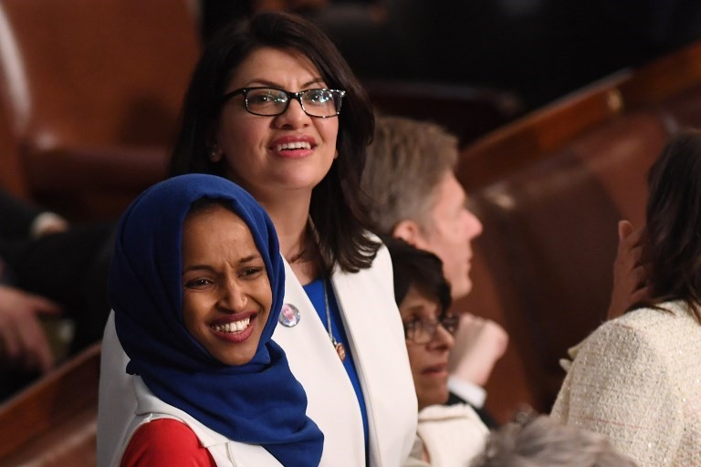 US Representative Ilhan Omar and Rashida Tlaib (AFP)