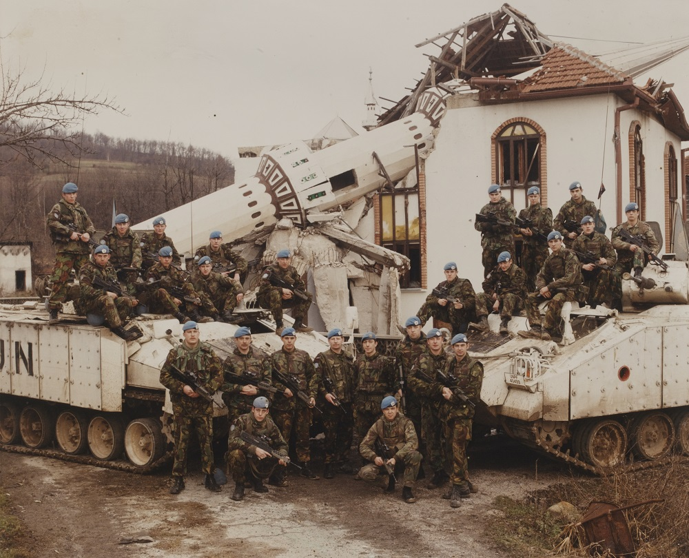 British soldiers in Bosnia