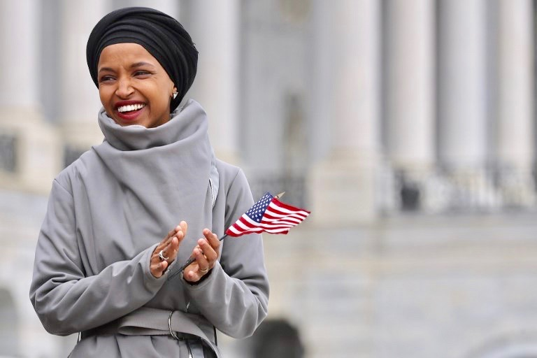 Omar's activism before she was elected focused on housing, immigrant rights, fully funded public education, and healthcare for all- she was only attacked when she spoke for Palestinian rights (AFP)