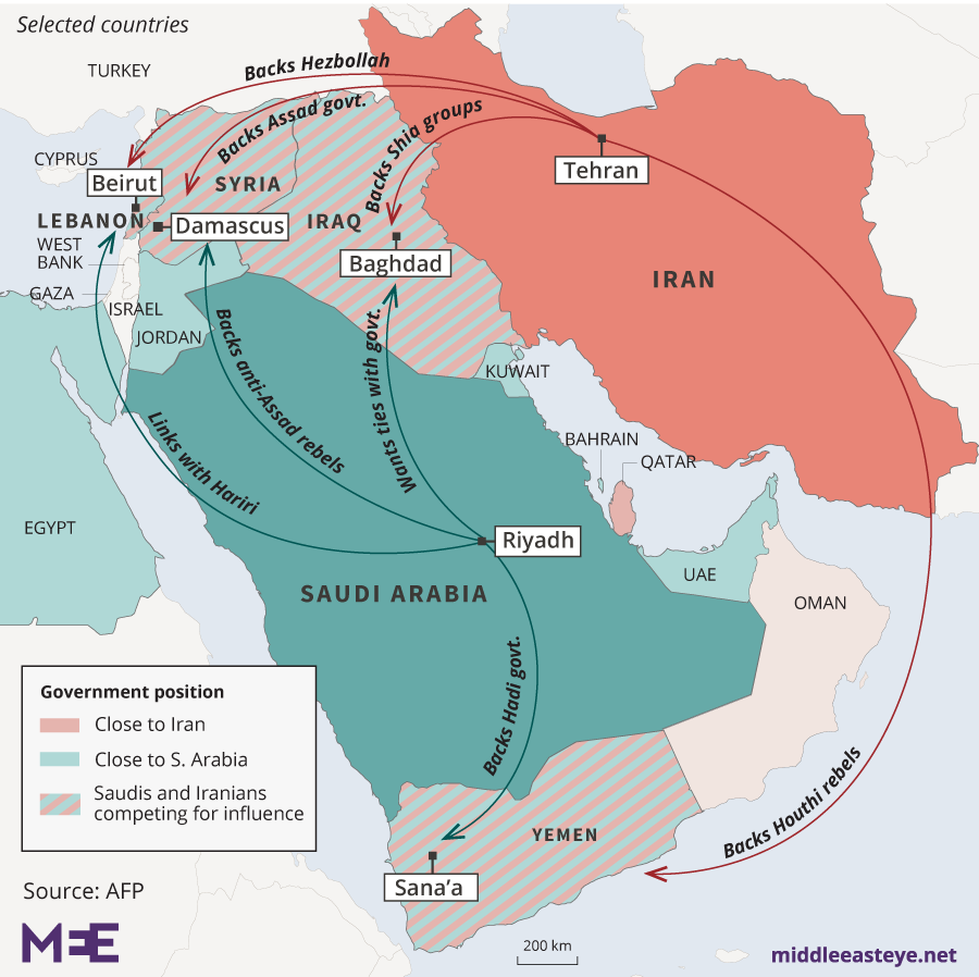 Saudi-Iran rivalry map (MEE)