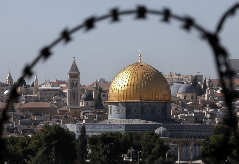 A view of the Dome of the Rock, Al-Aqsa mosque compound (AFP)