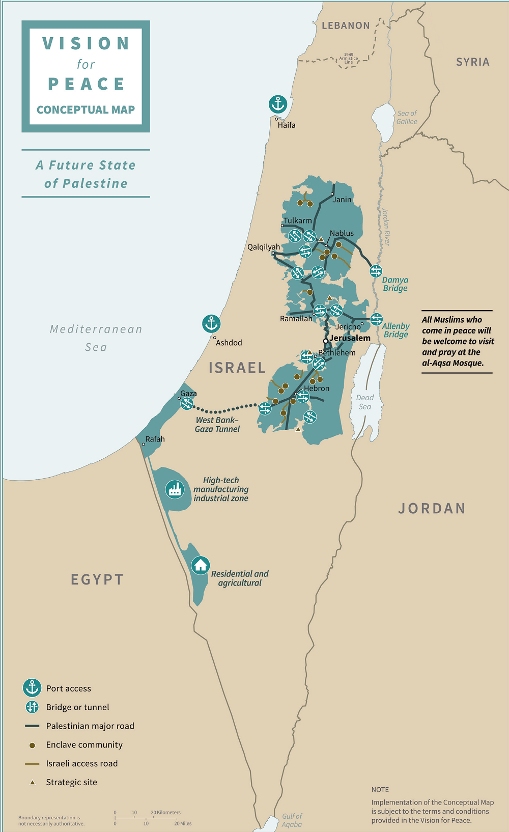 state of palestine map deal century