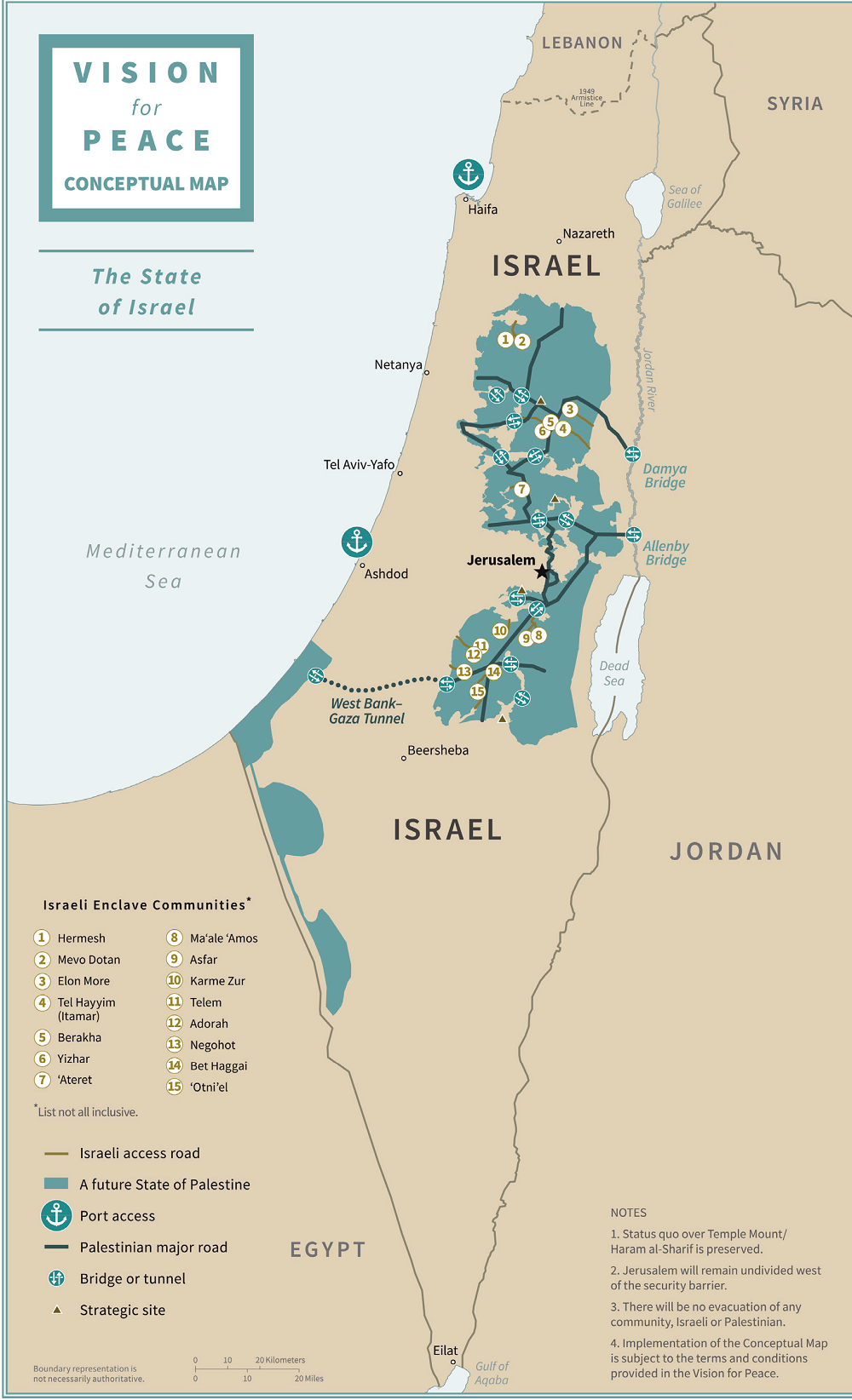 state of israel map