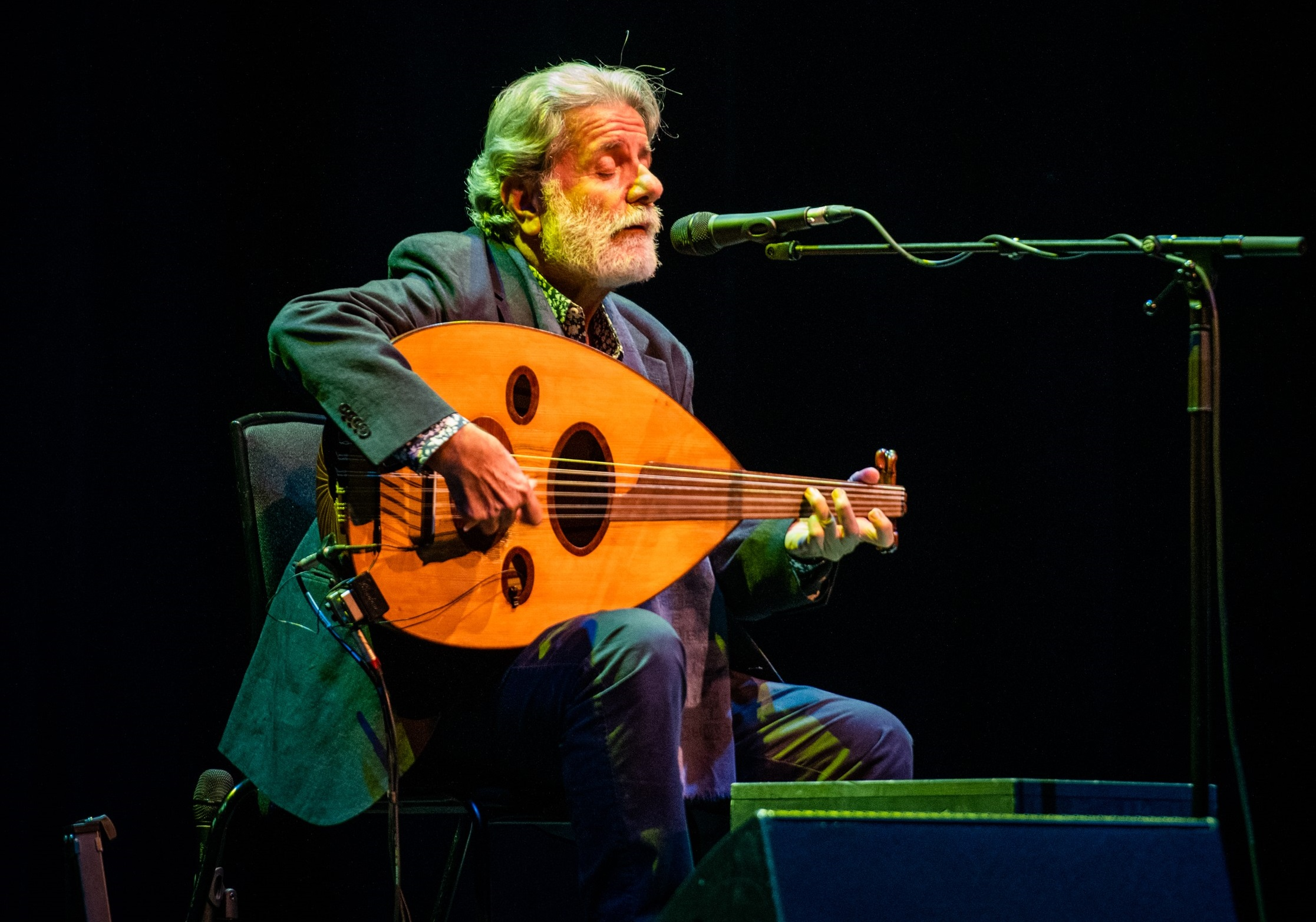 Marcel Khalife performs at the Usher Hall as part of the Edinburgh International Festival's You Are Here series (Credit: Gaelle Beri)