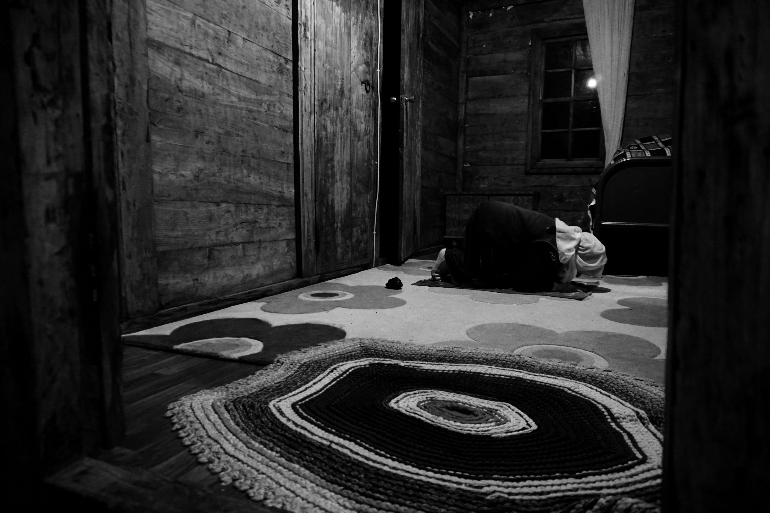 Ms Vaic during a night prayer. The Homshetsi widely identify as Muslims (Nimet Kirac / MEE)