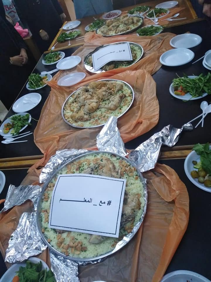 Mansaf given by parents to striking teachers (Supplied)