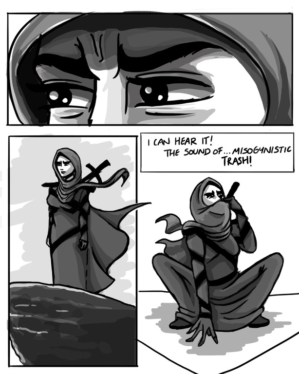 Deena Mohamed created Qahera, a young female superhero who tackles mysogyny and injustice with humour and a sword