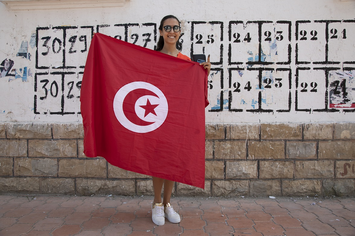 'The country needs to move forward and be modernist,' said Sandra Maarf, a 28-year-old engineer (MEE/Lotfi El Gharian)