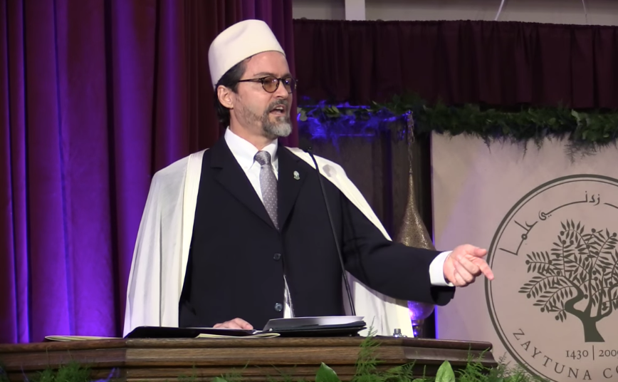 Hamza Yusuf co-founded the Zaytuna college in 2008 alongside Imam Zaid Shakir and Hatem Bazian (Screengrab)