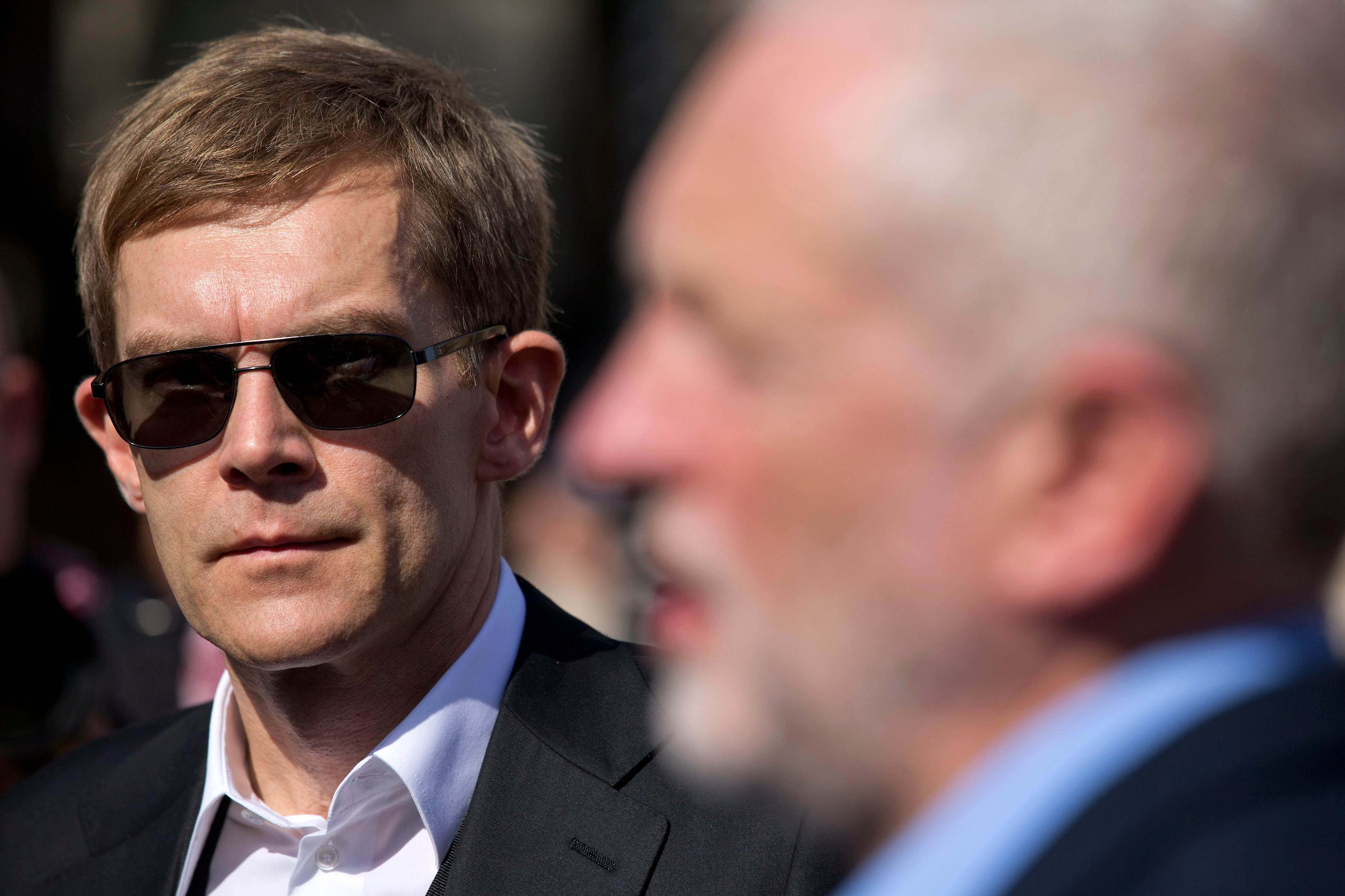 Seumas Milne (left), a former Guardian journalist, is Corbyn's media adviser and right hand man (AFP)