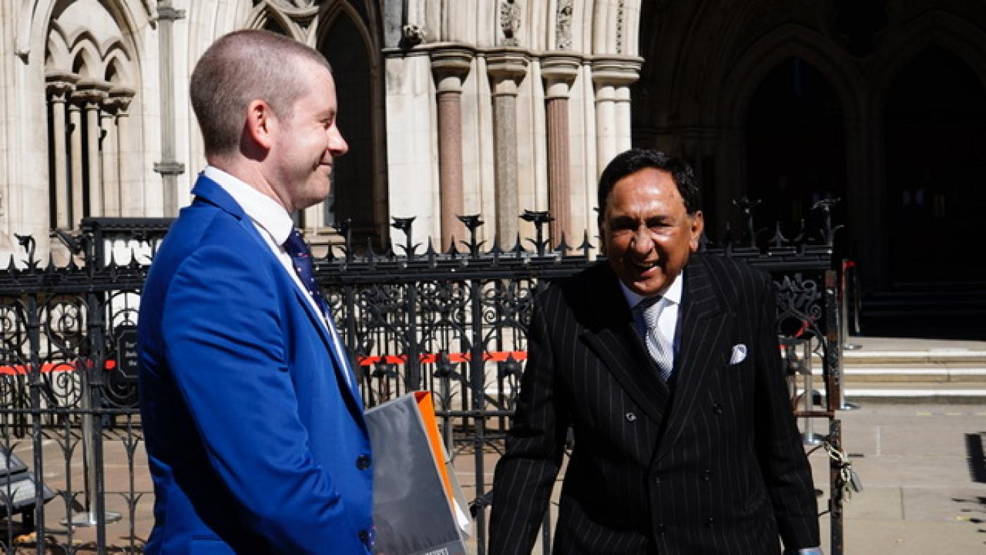 Lord Sheikh outside High Court