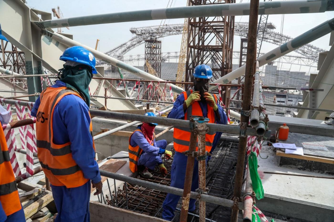 18,500 migrant workers in Qatar are currently involved in the construction of stadiums for the 2022 World Cup