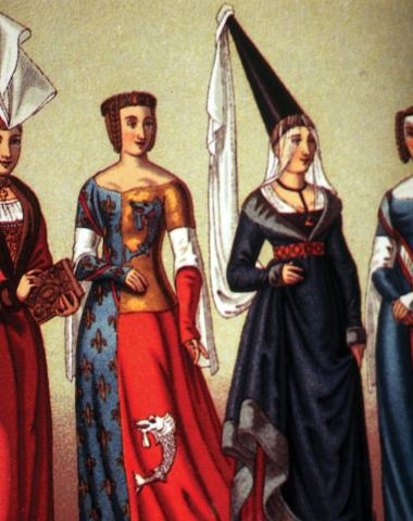 The Bethlehem headpiece, known as the 'Shatweh', became popular among European noblewomen (Reproduced by permission of Interlink Publishing)