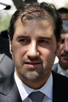 Rami Makhlouf, pictured here in 2010, is a close associate of Bashar al-Assad (AFP)
