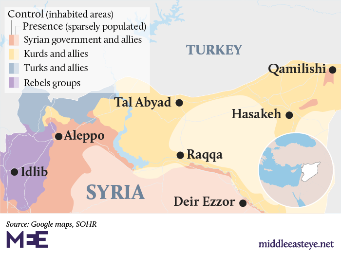 Syria: Who is in control of where