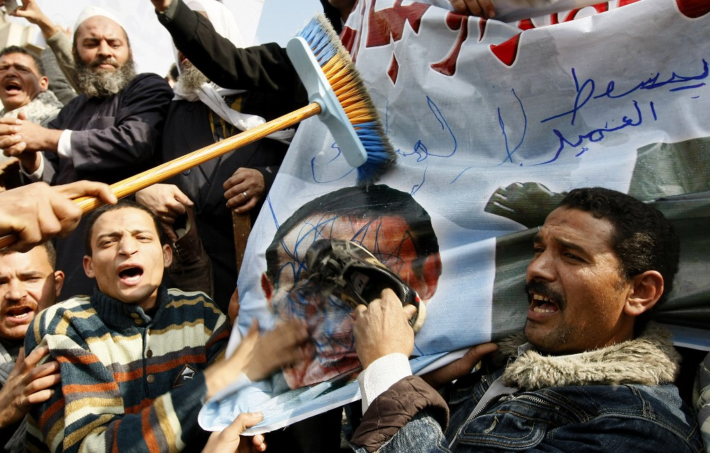 Egyptians protest in Cairo's Tahrir Square in January 2011 (AFP)