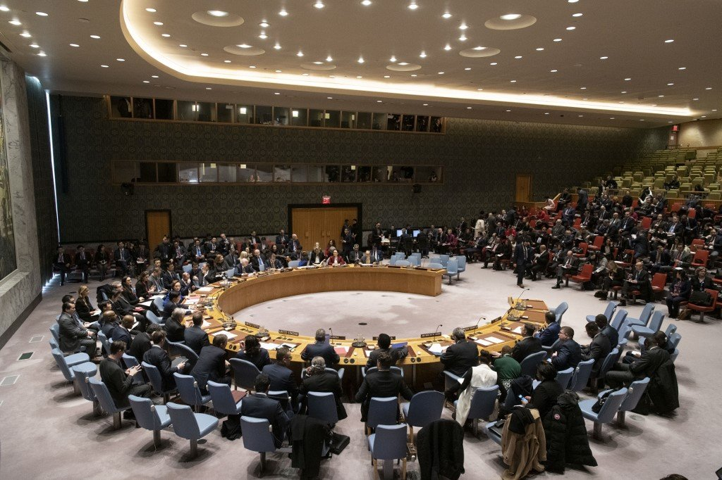The UN Security Council is pictured on 9 January (Mark Garten/UN/AFP)