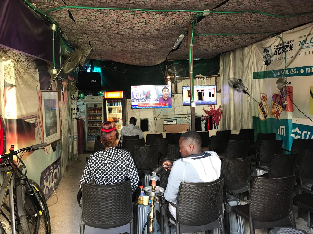 A social club in south Tel Aviv popular with refugees (MEE)