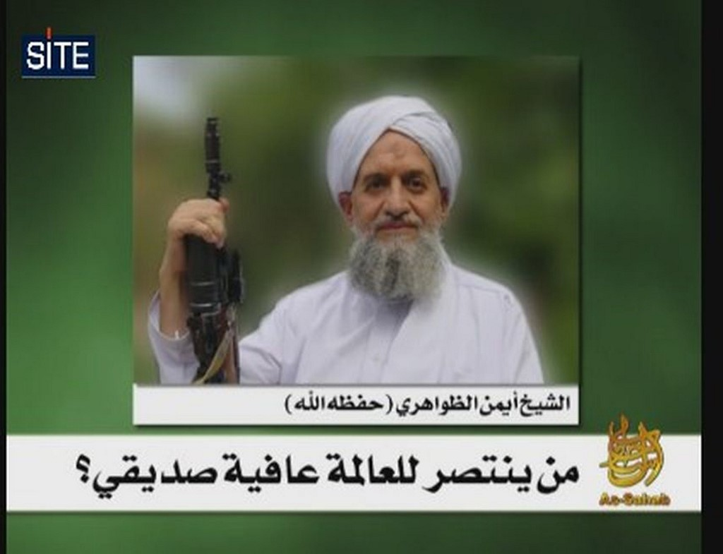 An image released in 2010 shows a video grab of al-Qaeda leader Ayman al-Zawahiri (SITE Intelligence Group/AFP)